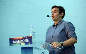 24.09.2016., Rovinj - Weekend media festival 9. Big Bang of Digital Analytics. Iva Obrovac. Photo: Slavko Midzor/PIXSELL
